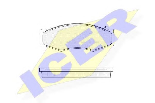 Колодки тормозные ICER 140526