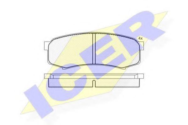 Колодки тормозные ICER 141027
