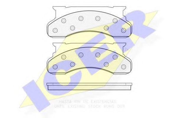 Комплект тормозных колодок, дисковый тормоз ICER 141177