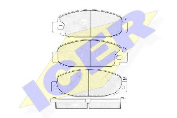 Колодки тормозные ICER 141207