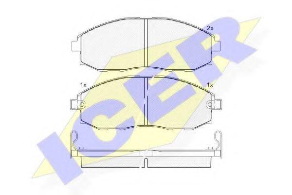 Колодки тормозные ICER 141266