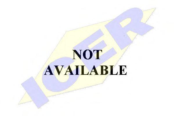 Комплект тормозных колодок, дисковый тормоз ICER 180019