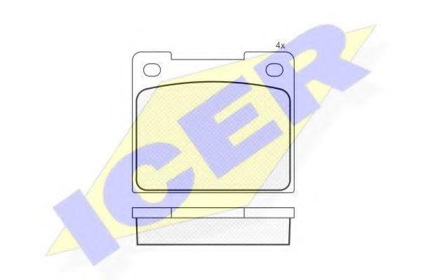 Колодки тормозные ICER 180033