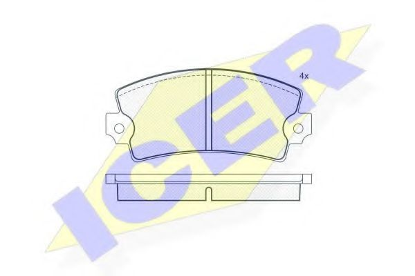 Колодки тормозные ICER 180089