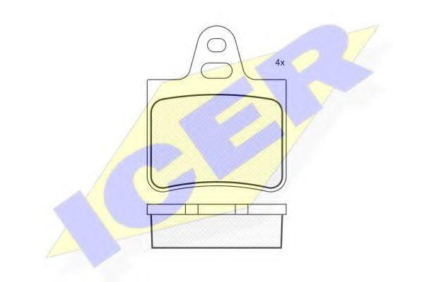 Колодки тормозные ICER 180292