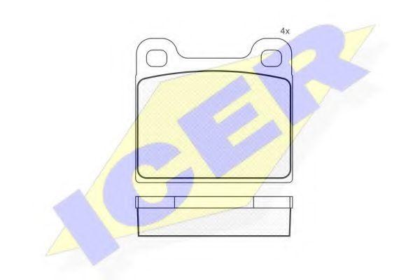 Колодки тормозные ICER 180386