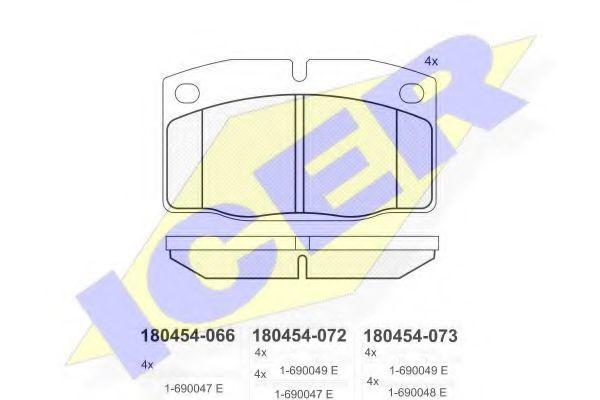 Колодки тормозные ICER 180454