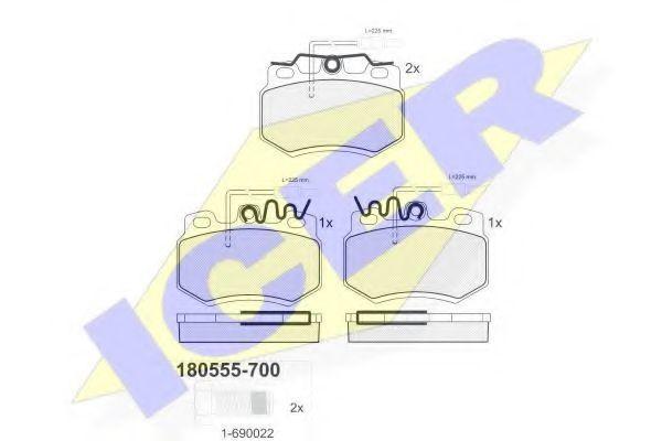 Колодки тормозные ICER 180555-700