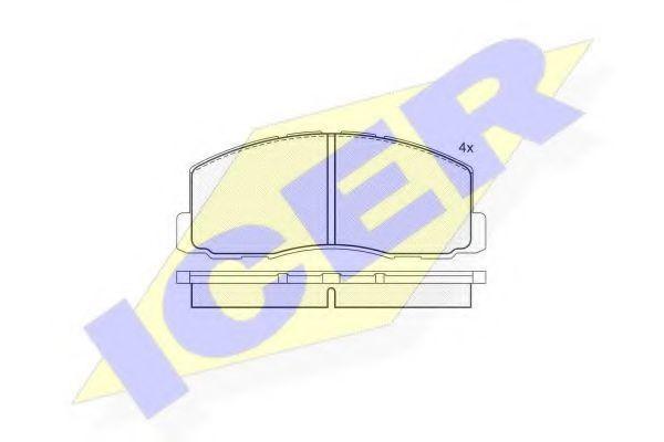 Колодки тормозные ICER 180602