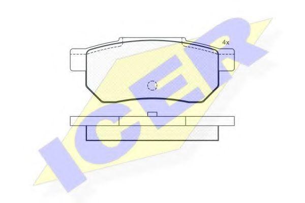 Колодки тормозные ICER 180751