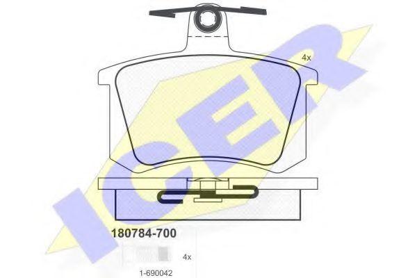 Колодки тормозные ICER 180784700
