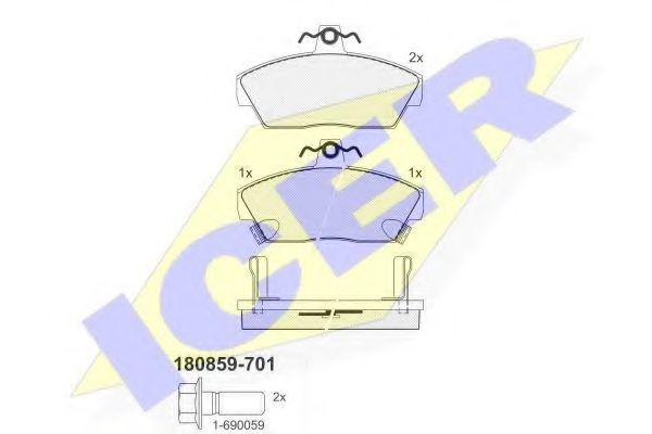 Колодки тормозные ICER 180859701