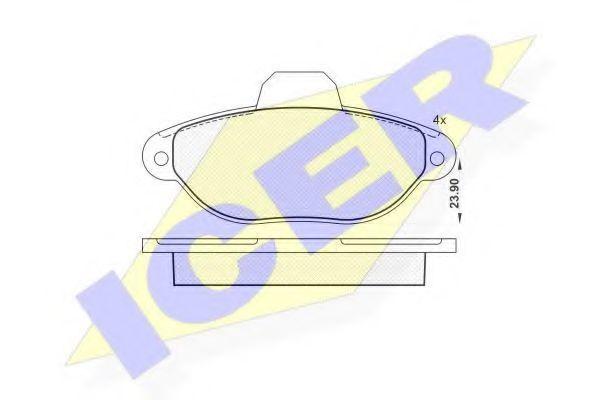 Колодки тормозные ICER 181018