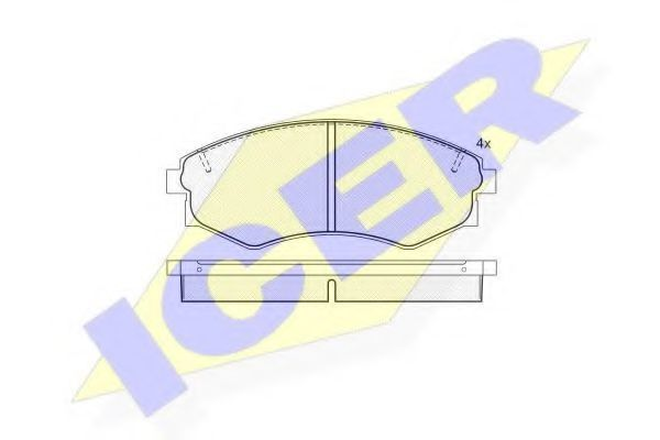Колодки тормозные ICER 181097