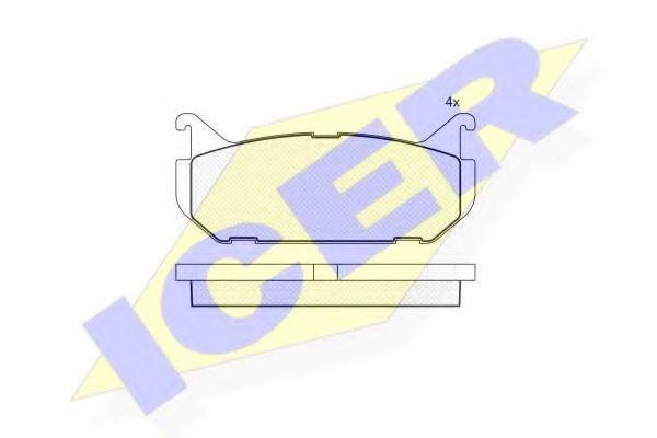 Колодки тормозные ICER 181110