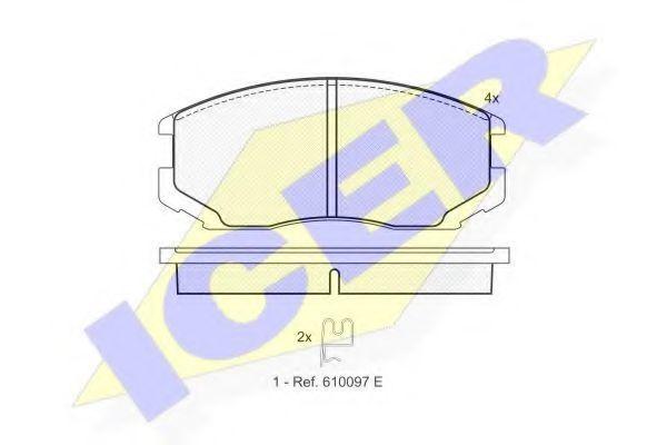 Колодки тормозные ICER 181129