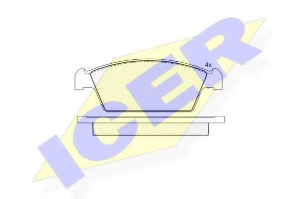 Колодки тормозные ICER 181134