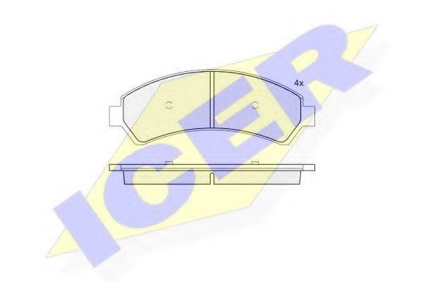Колодки тормозные ICER 18 1410