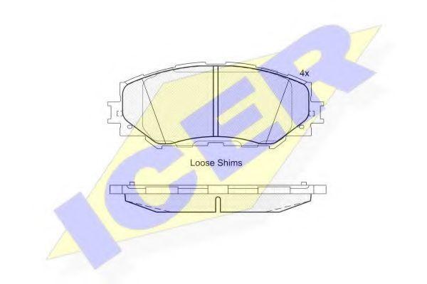 Колодки тормозные ICER 181760