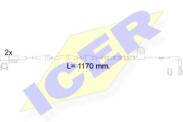 Сигнализатор, износ тормозных колодок ICER 610550EC