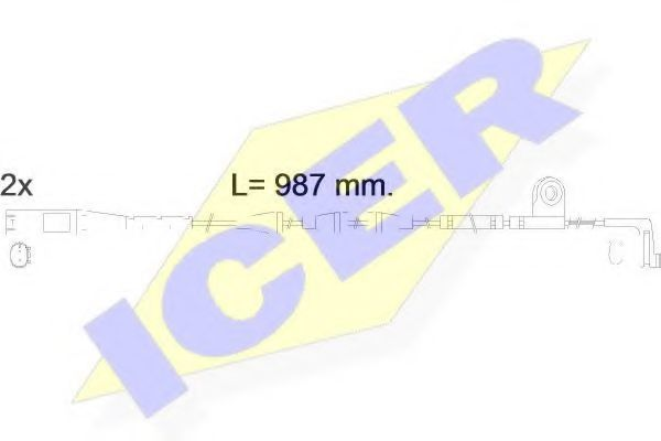 Сигнализатор, износ тормозных колодок ICER 610571EC