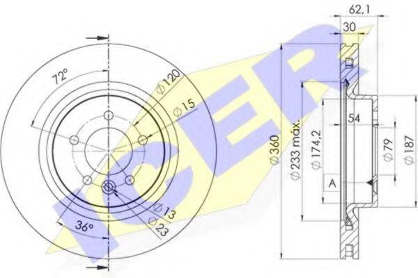 Тормозной диск ICER 78BD73642
