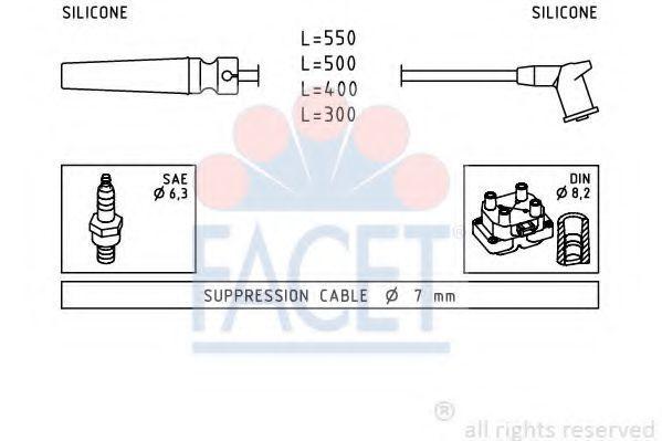 Комплект проводов зажигания FACET 49509