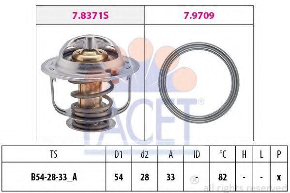 Термостат, охлаждающая жидкость FACET 78845