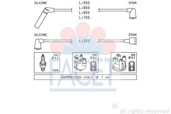 Комплект проводов зажигания FACET 47238