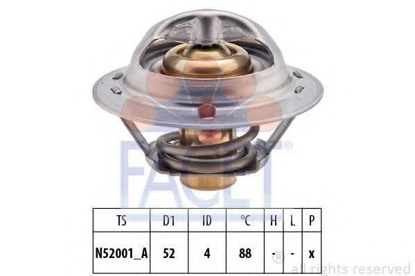 Термостат, охлаждающая жидкость FACET 78232S