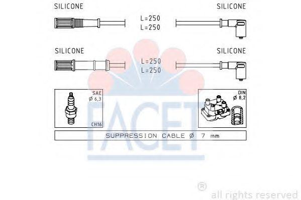 Комплект проводов зажигания FACET 47170