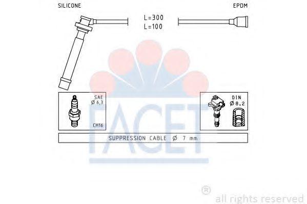 Комплект проводов зажигания FACET 47013