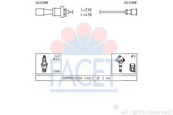 Комплект проводов зажигания FACET 47251