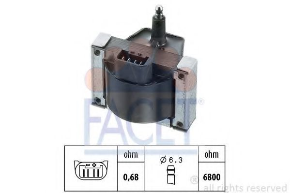 Катушка зажигания FACET 96005
