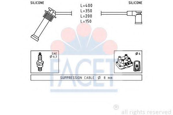 Комплект проводов зажигания FACET 47242