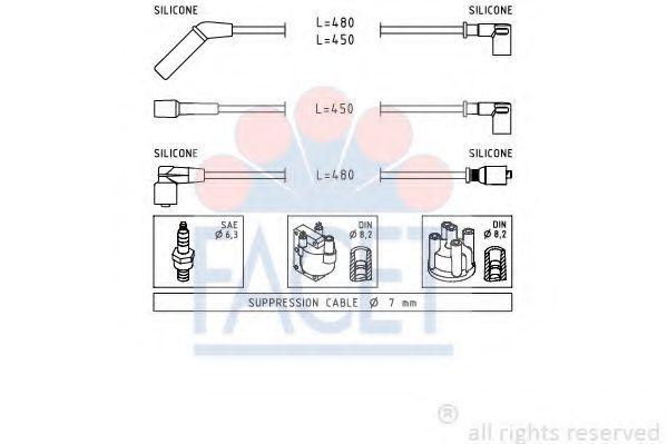Провода высоковольтные FACET 49634