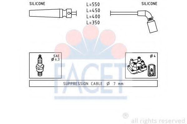 Комплект проводов зажигания FACET 49680