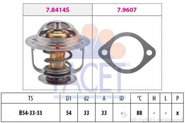 Термостат, охлаждающая жидкость FACET 78414