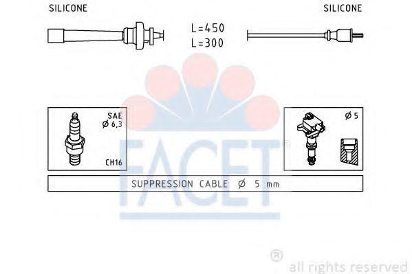 Комплект проводов зажигания FACET 49764