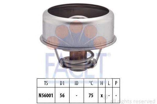 Термостат, охлаждающая жидкость FACET 78252