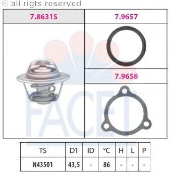 Термостат, охлаждающая жидкость FACET 78631