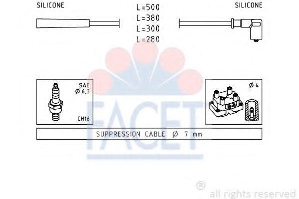 Комплект проводов зажигания FACET 47252