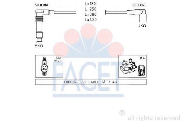 Комплект проводов зажигания FACET 49677