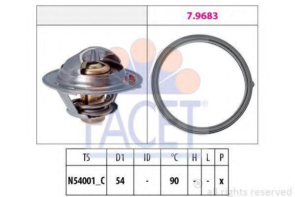 Термостат, охлаждающая жидкость FACET 78802