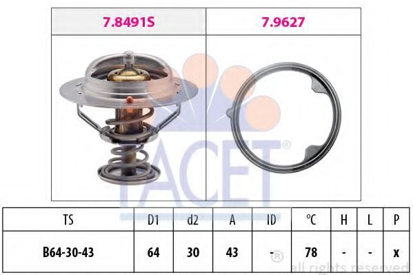 Термостат, охлаждающая жидкость FACET 78491