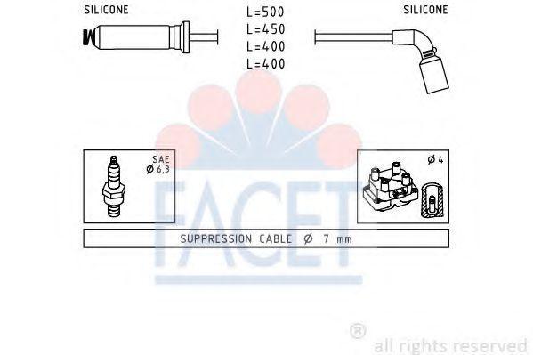 Комплект проводов зажигания FACET 49730