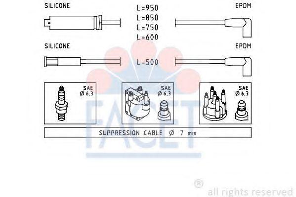 Комплект проводов зажигания FACET 49419