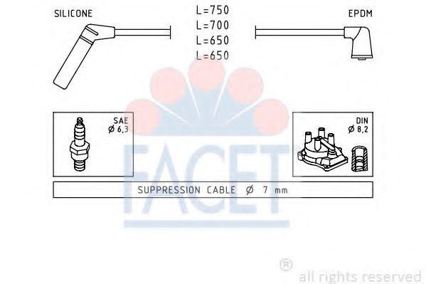 Комплект проводов зажигания FACET 49420