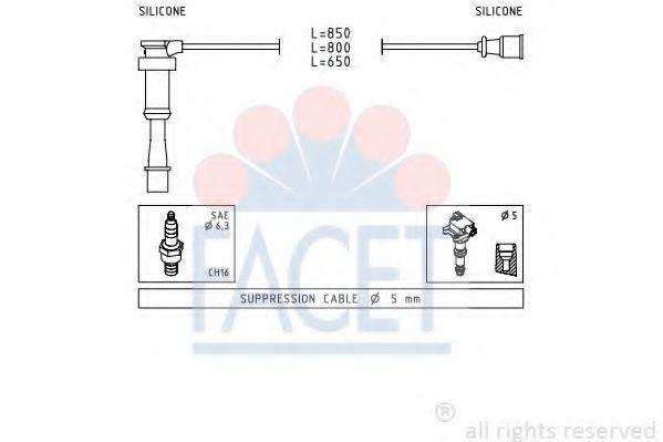 Комплект проводов зажигания FACET 49845