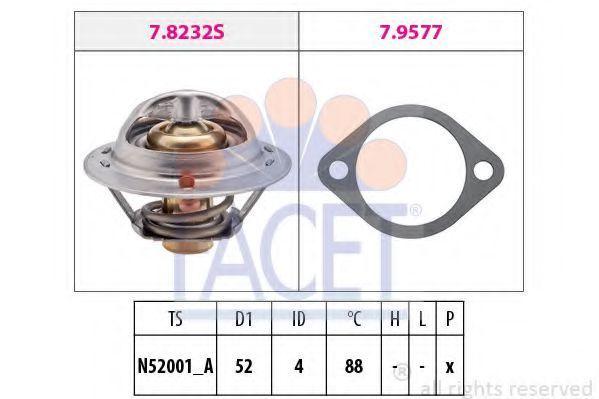Термостат, охлаждающая жидкость FACET 78237